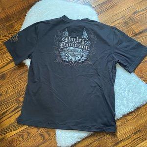 Harley Davidson Embroidered Shirt Sz M
